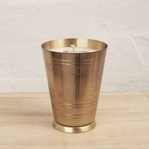 Brass Lassi Cup Soy candle