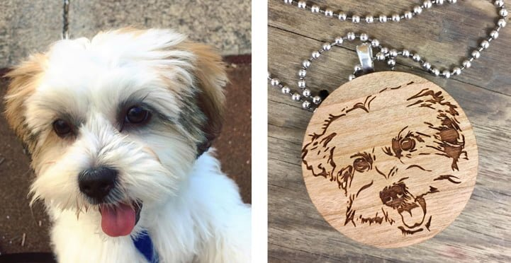 Bespoke-gift-ideas dogtag Lassie