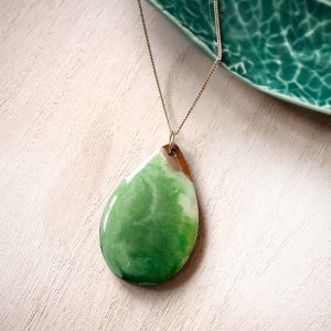 green teardrop pendant