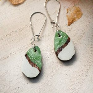 snow storm earring