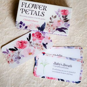 flowers affirmation cards