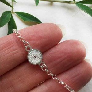 small silver bracelet