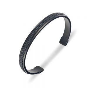 black stainless steel cuff