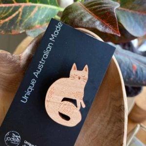 Moggie Cat brooch