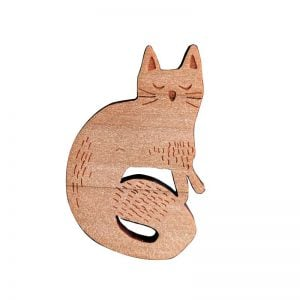Moggie Cat brooch