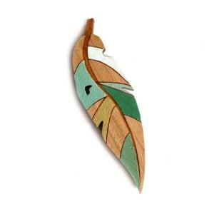 Mallee Leaf brooch