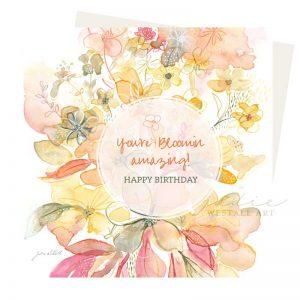 Bloomin amazing Birthday Card
