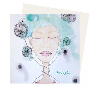 Breath greeting card