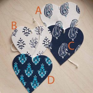 heart designs tags