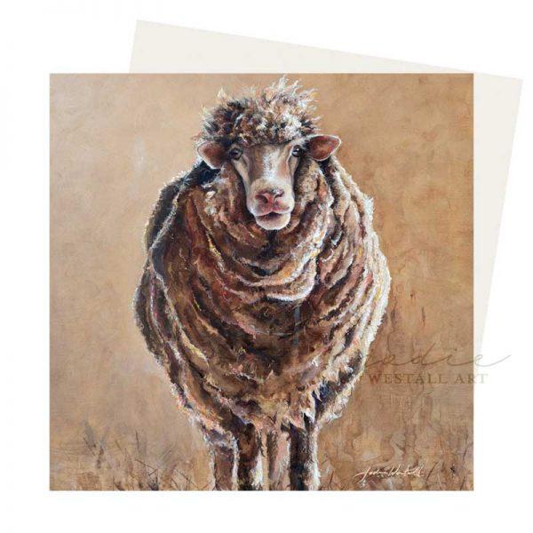 Kevin the sheep greeting card