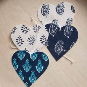 heart shape gift tags