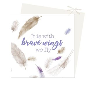 With brave wings card