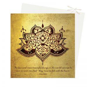 Lotus exquisite beauty card