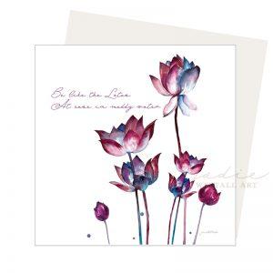 be like the lotus card