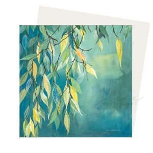 autum leaves greeting card