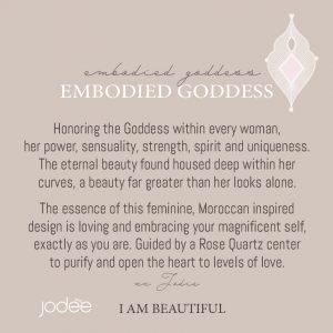 Rose quartz Goddess menaing
