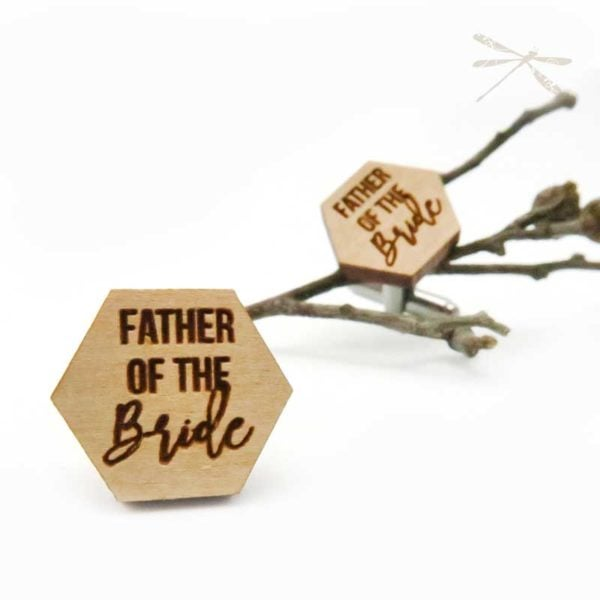 Father of the Bride cufflink