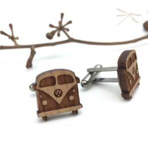 wooden kombi cuflink