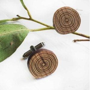 wooden cufflinks