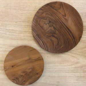 hand carved plates