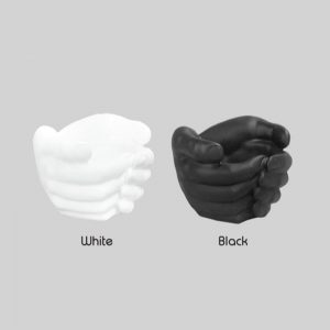 hand bowl white and black