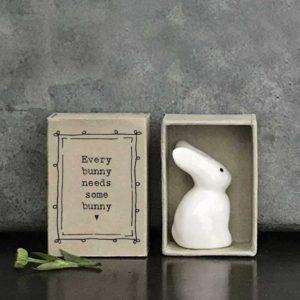 porcelain matchbox animal bunny