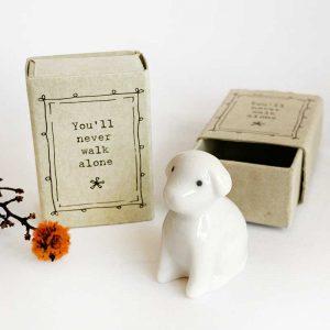 porcelain matchbox animal dog