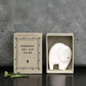 porcelain matchbox animal elephant