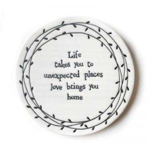 Life porcelain coaster
