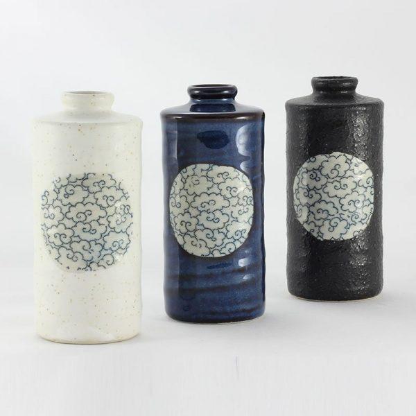 Round cylinder vases