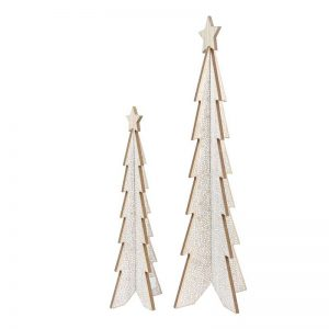 wooden table xmas tree decorations