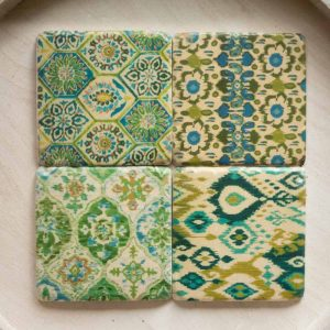 Fresco design coasters