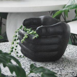 blank hand planter