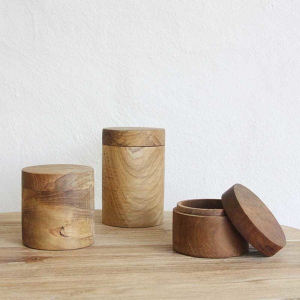 wooden canister