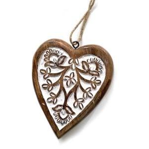 large wood heart