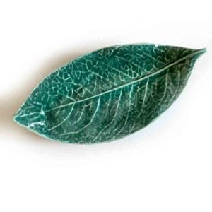 dark green ceramic dish