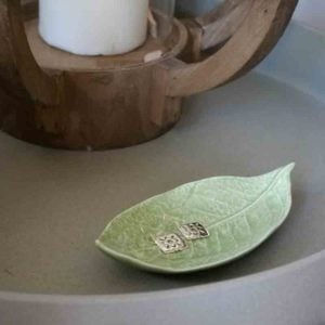 light green trinket dish