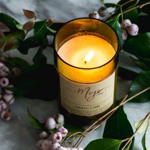 oak moss sage candle