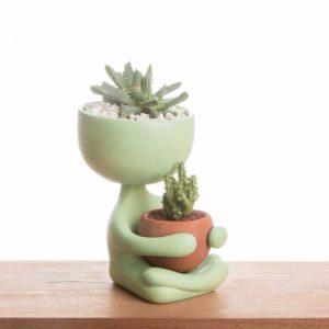 Robert Zen green people pot