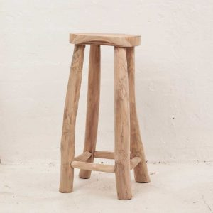 large rustic stool