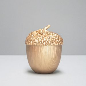 gold acorn dish