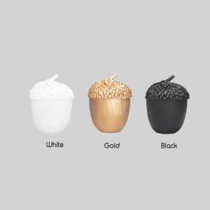 3 colours acorn pots