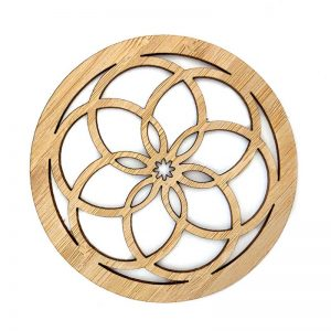 Bamboo Coaster Seed of life