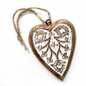small wood heart