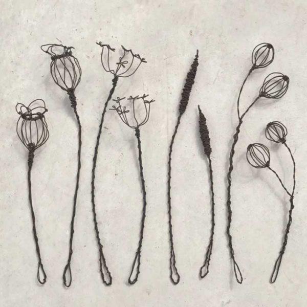 wire flower sprigs