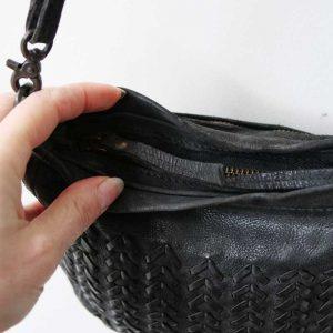 black noose bag leather