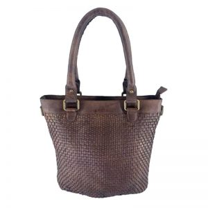 leather weave design bag