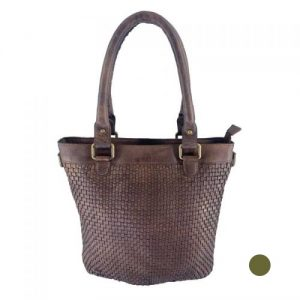 leather weave style tote bag