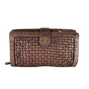 Leather plait purse
