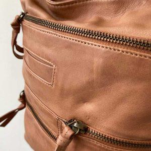como leather tote bag Blush